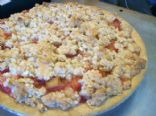 Cheapskate Rhubarb Crumble Pie