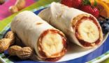 PEANUT BUTTER, JAM AND BANANA WRAPS