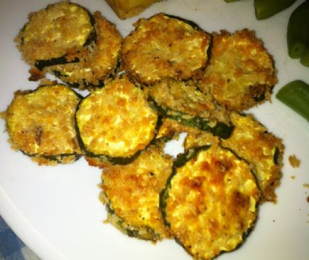 Cheesy Baked Zucchini Chips