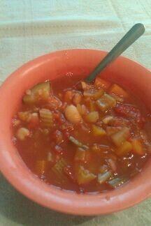 Very veggie bean soup