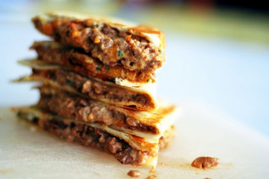 Hungry Girl Cheeseburger Quesadilla