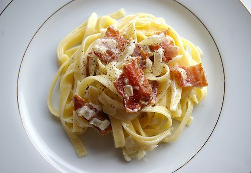 Pasta Carbonara (home made sauce)