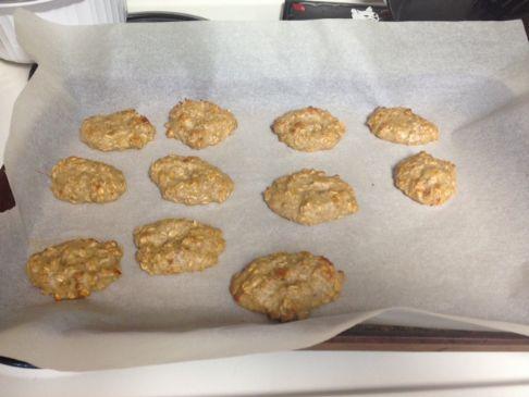 Banana Oatmeal Walnut Cookies!