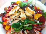 Strawberry Fields Salad with Chicken Breast