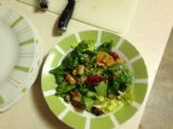 Fruity walnut spinach salad w/out dressing
