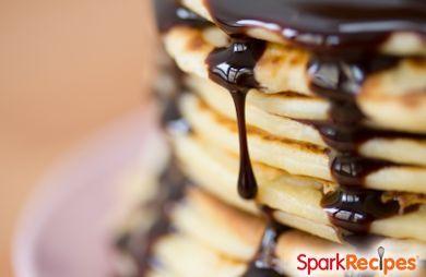 Whole-Wheat Pancakes with Orange Chocolate Sauce
