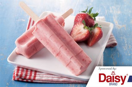 Strawberry N Cream Pops from Daisy Brand �