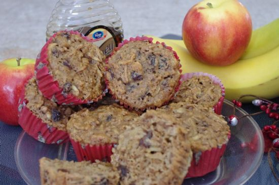 Fruity bran muffins
