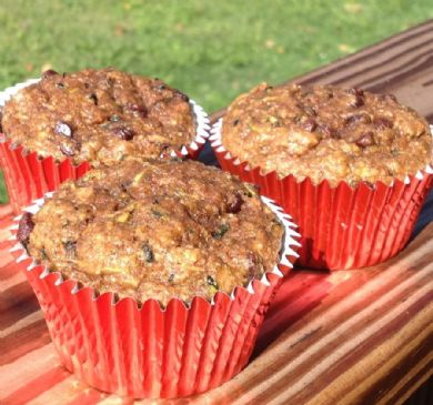 Banana Zucchini Chocolate Chip Muffins