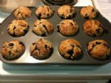 Banana Blueberry Yogurt Muffins