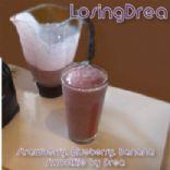Strawberry, Blueberry, Banana Fat Free Skim Milk Smoothie