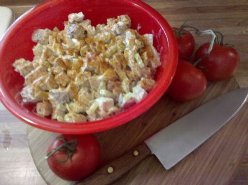 Leftover Chicken Salad (serving size is .5 cup)