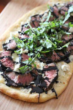Grilled Steak & Gorgonzola Pizza with Balsamic Glaze