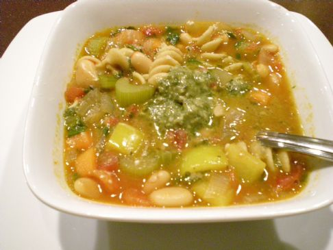 Pesto Minestrone Soup