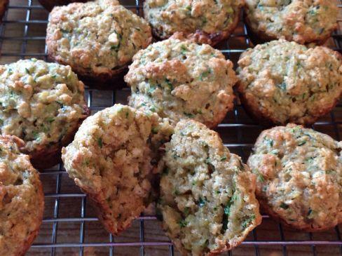 Lemon Oatmeal Zucchini Muffins