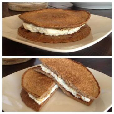Egg White Oatcake Sandwich Recipe | SparkRecipes