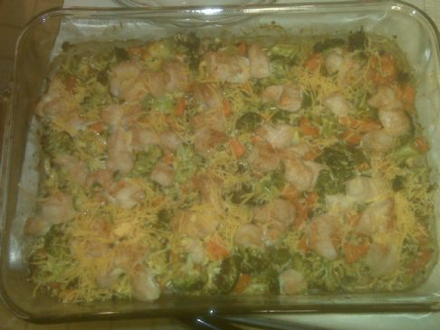 All Natural Chicken, Rice, & Broccoli Casserole