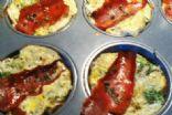 Bacon, spinach, mushroom frittata muffins