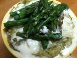Asparagus Soup w/ Lavender Lemon Cream
