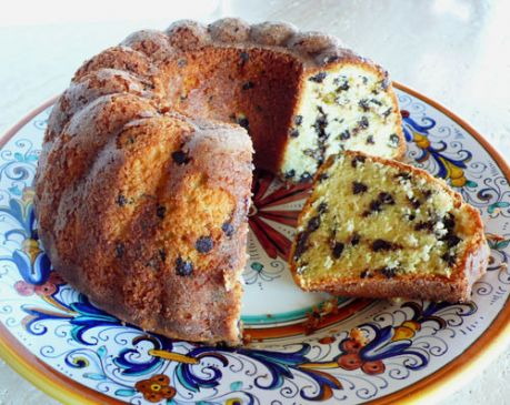 Cream Cheese Chocolate Chip Pound Cake Recipe | SparkRecipes