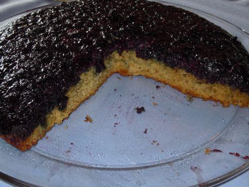 Blueberry-Anise Upside Down Cake