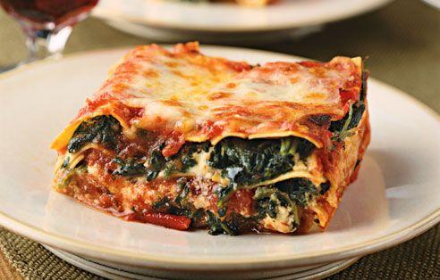 Spinach Mushroom Lasagna Recipe SparkRecipes