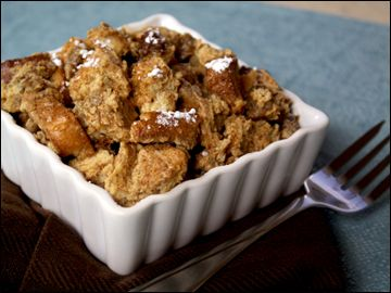 Sweet and Savory Breakfast Bread Pudding Bowl