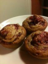 Raspberry Swirl Banana Muffins