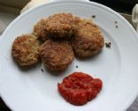 Eggplant cakes with marinara dipping sauce