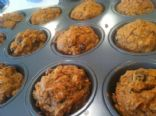 Vegan Carrot Raisin Walnut Muffins
