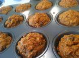Vegan Carrot Raisin Walnut Muffins