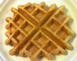 Vanilla-Cinnamon Vegan Waffles for One (with protein)