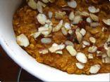 Pumpkin Pie Spiced Oatmeal