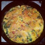Vegtable, Potato Frittata