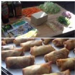 Baked Tofu and Veggie Egg Rolls