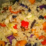 Quinoa with peppers and cabbage
