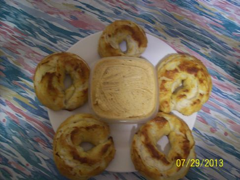 HOME MADE ONION BAGELS