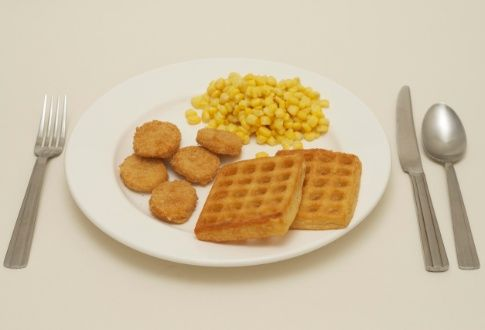 Chicken Nuggets, Waffles & Spaghetti Loops