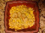 Linguini Simple Shrimp and Corn Meal