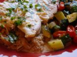 Chicken Scallopini in a Creamy, Cream-less Saffron Sauce