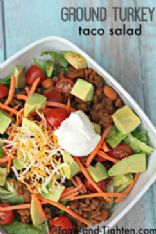 Healthy Ground Turkey Taco Salad
