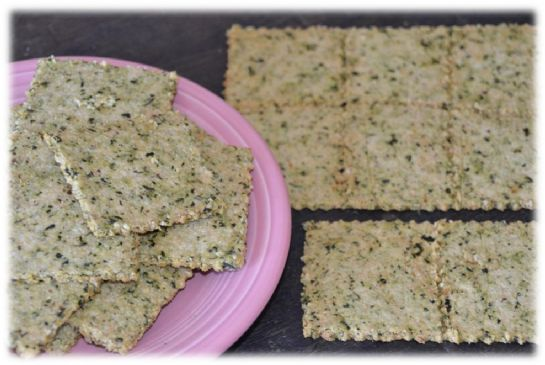 Spinach Parmesan Crackers
