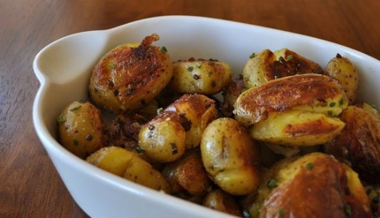 Boiled, Smashed and Fried potatoes (all in one!)