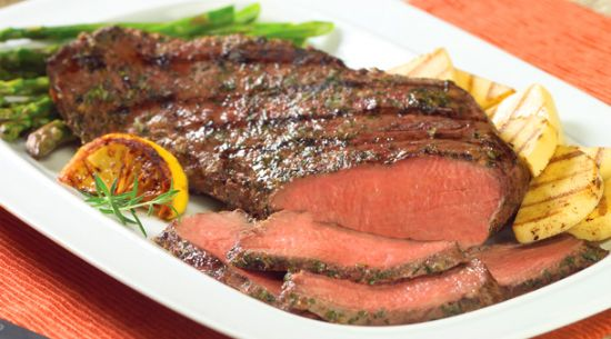 Grilled Lemon and Herb Crusted Tri Tip Roast