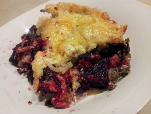 Roasted Beet & Portobello Au Gratin