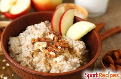 Slow Cooker Apple Pecan Blondie Oatmeal