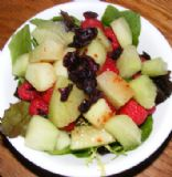 Honeydew Raspberry Salad