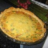 Ham and Cheese quiche with herbed whole wheat crust