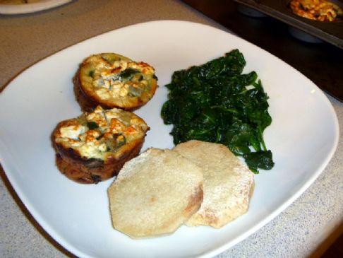 quiche spinach, onion and feta crustless