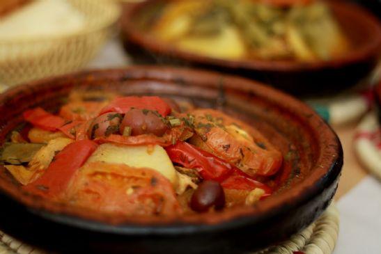 Moroccan Fish Tagine Recipe Sparkrecipes